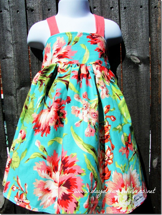 luau dress aqua coral by daydream believers