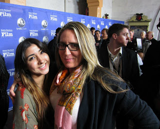 Laura with her Daughter Kylie at the movie premier of the Bones Brigade. taken Jan. 2012