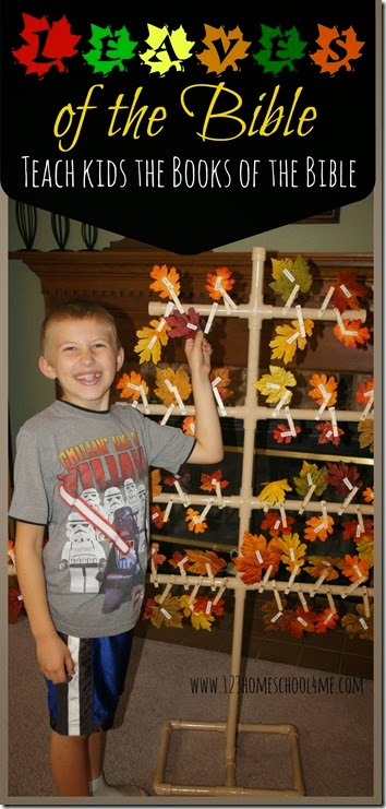 Leaves of the Bible - A fun way to teach kids the Books of the Bible in a hands on activity perfect for Sunday School Classes, Awana, VBS, and more.