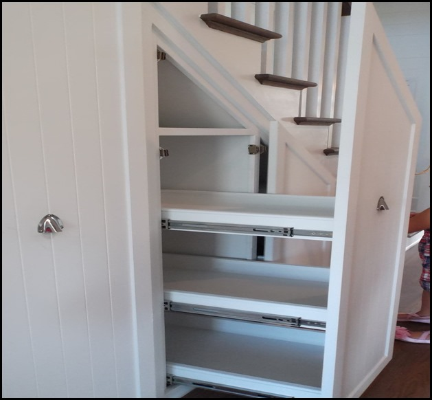 under stair slide out storage
