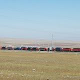 Tianshan - Caravane de camions colorés