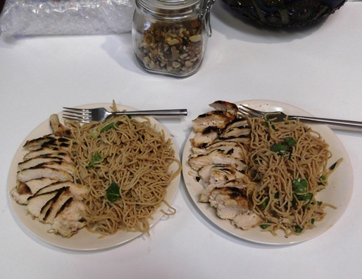 Sesame Noodles Chicken
