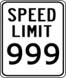 SpeedLimit999Sign