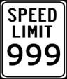 SpeedLimit999Sign