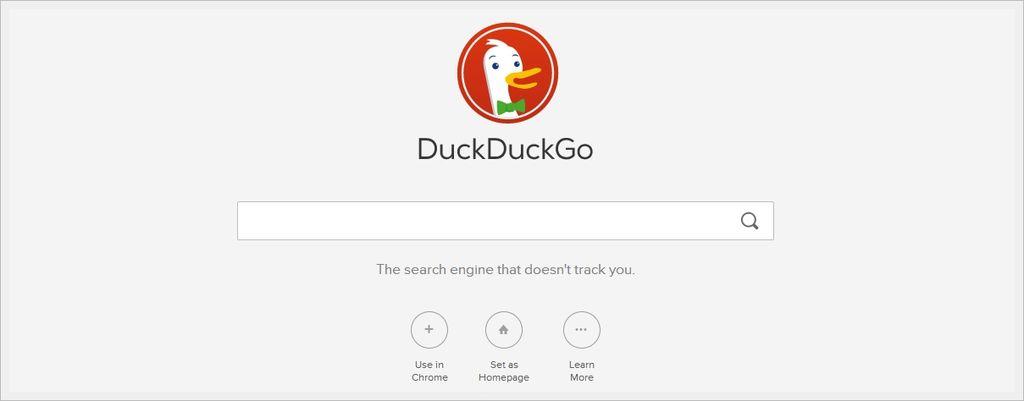 DuckDuckGo - nuova home