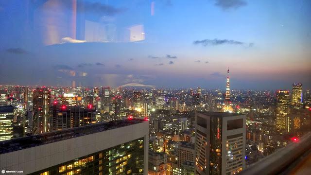 breathtaking view of Tokyo during dusk in Shinagawa, Tokyo, Japan