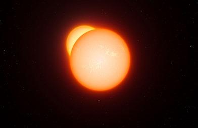 ilustração de uma binária eclipsando