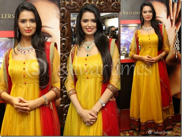 Meenakshi_Dixit_Yellow_Net_Salwar_Kameez