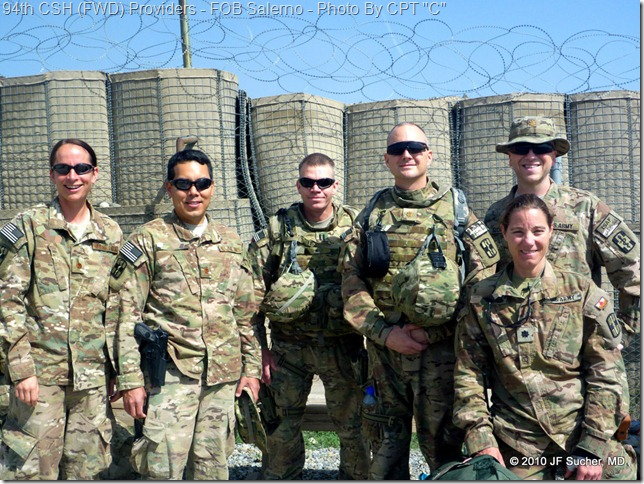 94th CSH (FWD) Providers - FOB Salerno - Photo By CPT &quot;C&quot;