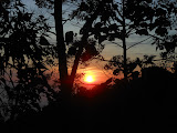 Sunrise seen from the narrow track up to Gunung Kaba (Dan Quinn, August 2013)
