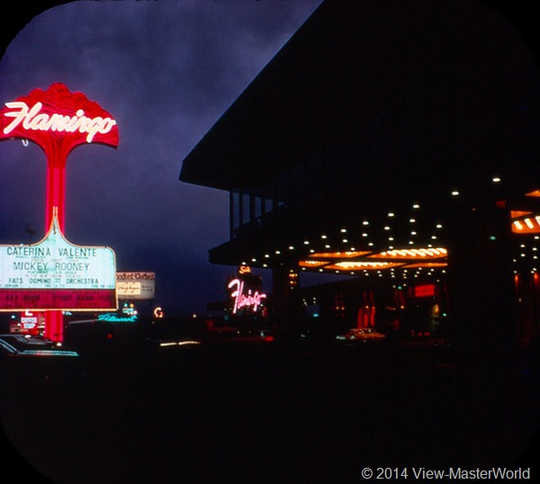 View-Master Las Vegas Nevada A159 Scene 3-5 Flamingo Hotel at Night