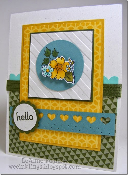 LeAnne Pugliese WeeInklings Mojo Monday 358 Hello Darling Stampin Up