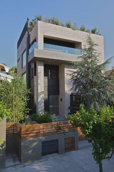 Casa Moderna Con Efecto De Sombra En Fachada