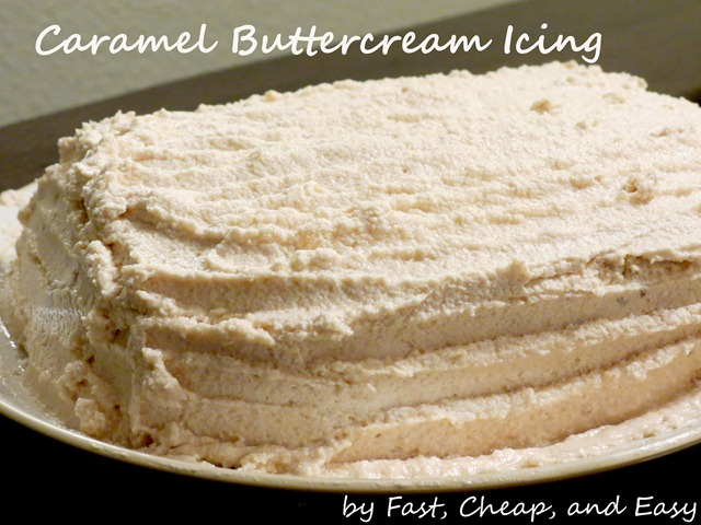 caramel buttercream icing frosting