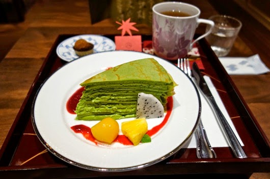 Matcha Millecrepe at Ping An Jing Teahouse
