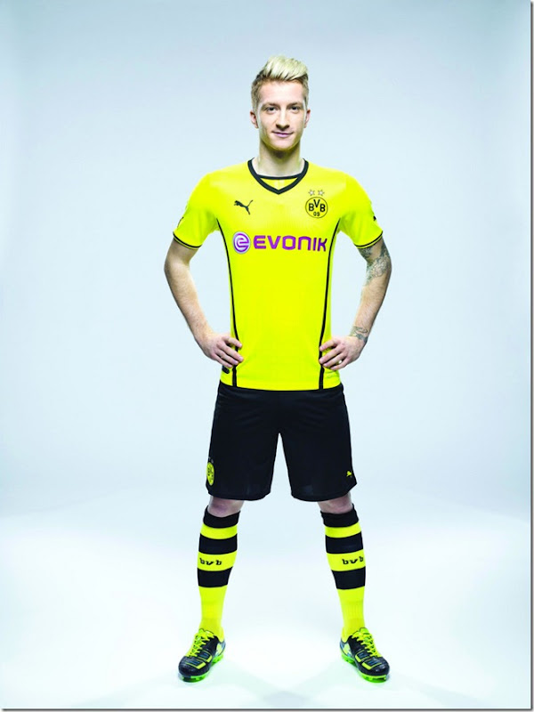 borussia dortmund new jersey trikot nova camisa marco reus 2013 2014