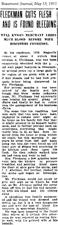AFleckman-1911-05-13Paper-Beaumont Journal