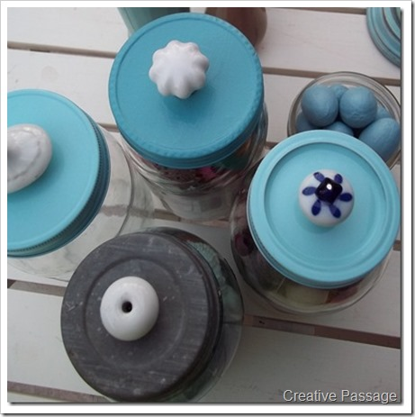 knob lid jars