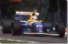Nigel Mansell con la Williams FW14B