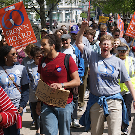 Teachers March-Denver,Co-May 2014 by Chris Goodwin - News & Events Politics ( segregation, schools, civil rights, education, teachers, supreme court, people, crowd, humanity, society )