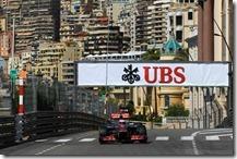 Button nelle prove libere del gran premio di Monaco 2012