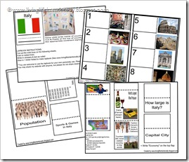 Click to download FREE ITALY lapbook from www.livinglifeintentionally.blogspot.com