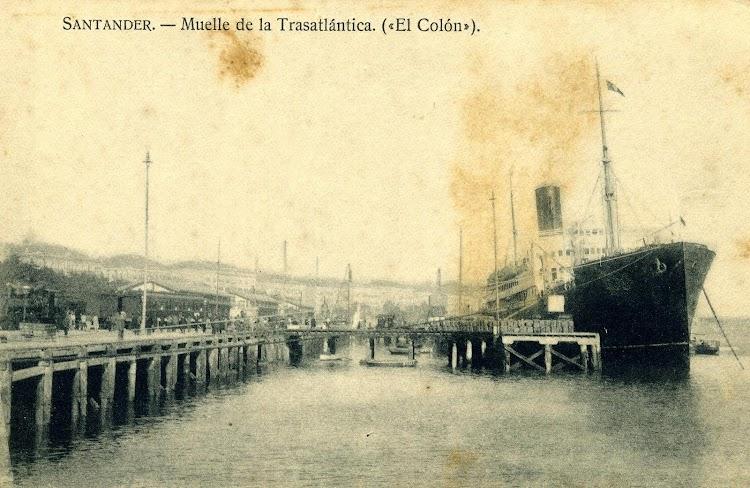 El CRISTOBAL COLON en Santander. POSTAL.JPG