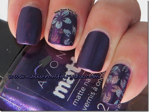 flowers holographic stamping