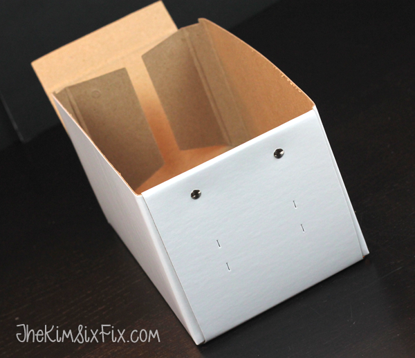 IKEA cardboard box with only one side