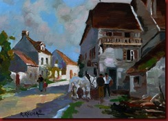 En el pueblo (46x33)
