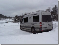 Look how dirty the RV got driving in the snow!
