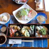 海鮮定食。海の幸が豊富。