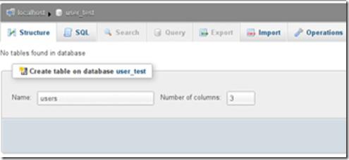 Tabel database yang baru dibuat masih blank