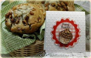 BakingGiftTags, Recipe Card and Tag Dies, Baking Tag Sentiments, Gingham Background, Our Daily Bread designs, Dawn Lusk