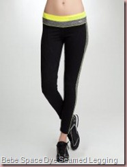 Yellow Space-Dye Seamed Legging - BEBE SPORT