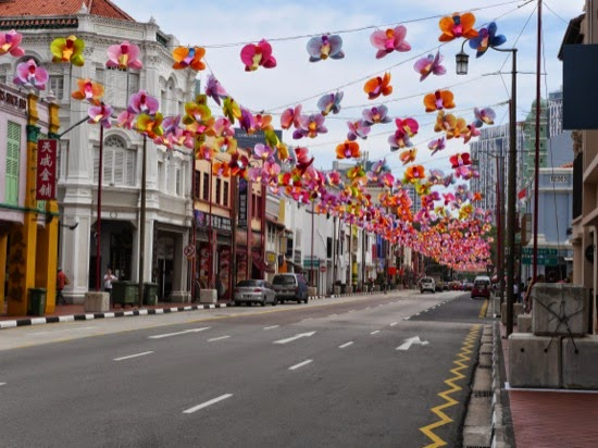 Decorations in and around 'China Town - part of the Ghost Festival?
