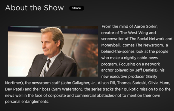 HBO- The Newsroom- About
