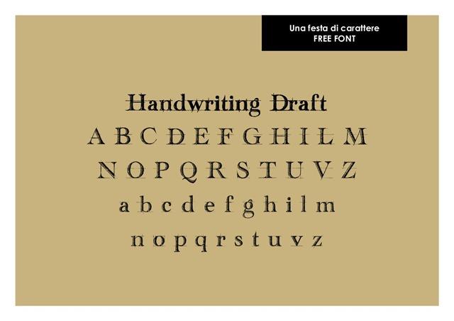 004 _ Una festa di carattere Handwriting Draft