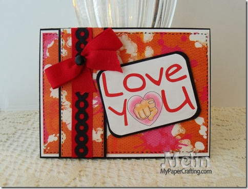 love you hand pointing card ds-480
