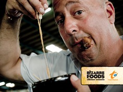 Bizarre Foods with Andrew Zimmern [photo courtesy of Travel Channel]