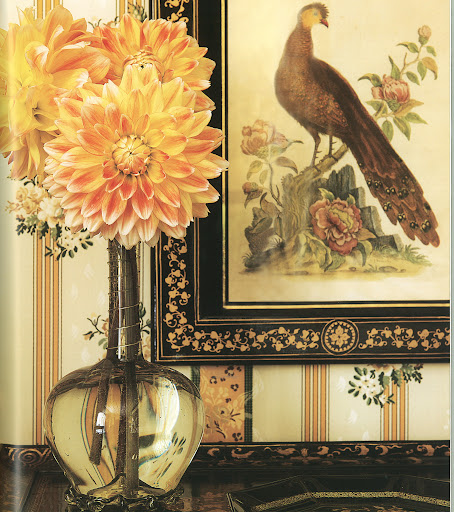 Roehm displays many examples of her love of chinoiserie.