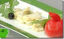 Insalata di baccalà con pomodoro farcito