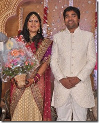 Actor Mirchi Shiva - Priya Wedding Reception Photos
