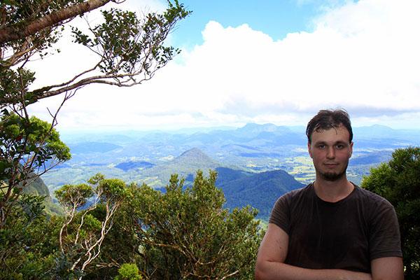 Ned overlooking Lamington National Park