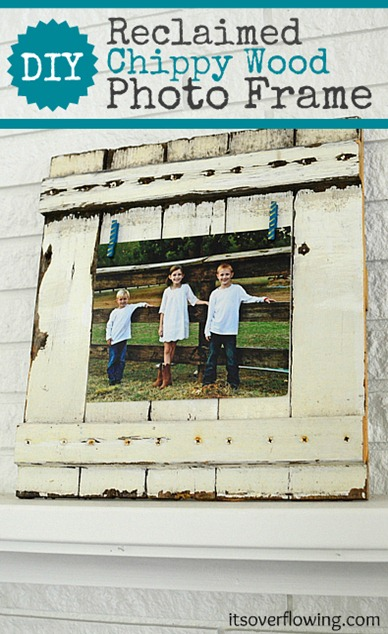 53 DIY Reclaimed Chippy Wood Photo Frame 2