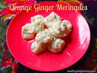 Orange Ginger Meringues