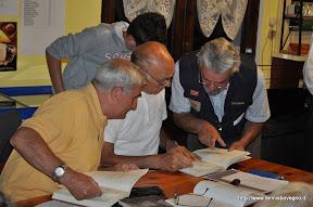 Da sinistra: Sandro Bernardi, Osvaldo Pe e Franco Cibaldi (figlio del poeta Aldo Cibaldi).
