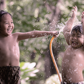 Siram by Doeh Namaku - Babies & Children Children Candids ( water, playing, babies, happy, portraits, baby photography )