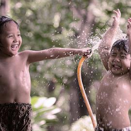 Siram by Doeh Namaku - Babies & Children Children Candids ( water, playing, babies, happy, portraits, baby photography )