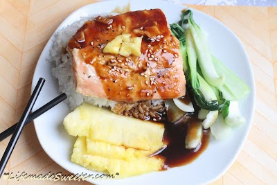 Pineapple Orange Salmon Teriyaki